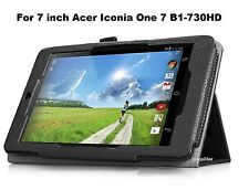 PU Folio Leather Case Cover W Stand for 7 inch Acer Iconia One 7 B1-730HD