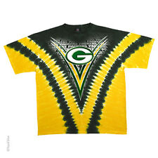 Official Licensed NFL Green Bay Packers Logo V-dye Tie Dye T-shirt 2 Sided