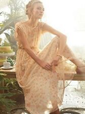 NWT ANTHROPOLOGIE PEACH BLOSSOM MAXI DRESS BY PAPER CROWN S-M STUNNING BEAUTY!