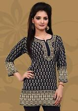 Printed Indian Trendy Kurti Top Blouse - Free Shipping ! Buy it Now!