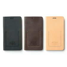 Zenus BLACK Tesoro Diary Italian Leather Cover Case for Samsung Galaxy Note 4