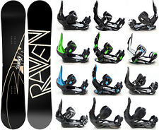 Snowboard Raven Element Carbon + Bindings Raven s250, s400, s220 or Team- New!