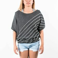 PUMA WOMENS KNITTED TOP MOONLESS NIGHT 553756 01 STRIPED ALEXANDER MCQUEEN T122