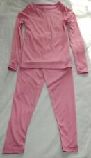 NWT Cuddl Duds Long Sleeve Crew & Legging Thermals 2pc girls set Sz XS, S, M