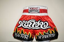 "YOKKAO MUAY THAI BOXING SHORTS ""FLAMES"",  RED, Free Shipping, K1, MMA"