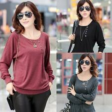 Chic Women T-Shirt Cotton Batwing Sleeve Crew Neck Loose Casual Blouse Tops S-XL