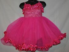 New  Marcea  Child size  Medium  pink party dance dress attached leotard TuTu