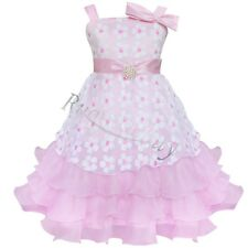 Girls Kids Fancy Princess Dress Toddler Baby Wedding Party Pageant Dresses 2-6Y
