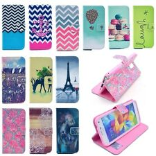 Flip wallet Card Holder PU Leather Case Stand Cover for Samsung Galaxy S5/Note4