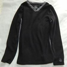 NWT Cuddl Duds Long Sleeve Warm Layers Fleece 2pc girls set  Sz S Black