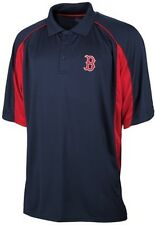 Boston Red Sox Majestic Men's Birdseye Navy Blue Polo Shirt Big And Tall Sizes