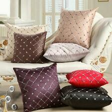 Home Sofa Bed Decor Multicolored Plaids Throw Pillow Case Square Cushion Cover