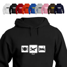 Pilot Light Aircraft Gift Hoodie Hooded Top Fly Daily Cycle