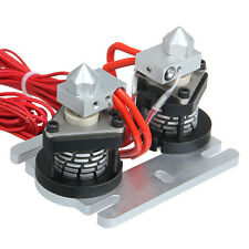 Dual-head All Metal extruder for 3D Printer Used in Multi-colored Filament