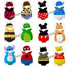 Baby Boys Girls Animal Costume Bodysuit Outfit Set Romper Clothes Gift for 3-24M
