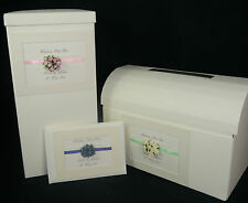 Post box, guest book, memory box, wedding, all colours, lace & paper roses