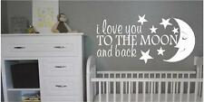 I Love You To The Moon & Back Cheap Wall Decals Stickers Kids Room Nursery
