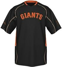 San Francisco Giants Men's Majestic Fast Action Jersey Black Big And Tall Sizes