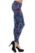 Womens Multi Color Flower Jeggings Floral Stretchy Skinny Pants(NSP-519)