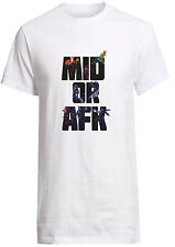 League Of Legends Mid Or AFK Shirt Yasuo Ahri Zed Lux Morgana Custom T-shirt