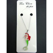 Disney Princess Ariel Metal Charms Pendant Necklace with 40 cm Chain FREE SHIP