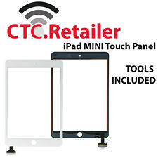 For Apple iPad Mini Touch Panel Digitizer Black & White Front Glass Screen