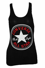 SEXY WOMEN LADIES CONVERSE PRINT SLEEVELESS MUSCLE VEST TOP SIZE 6,8/10,12/14,16