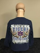 Auburn Tigers Hunting Camp unisex fit adult long sleeve t-shirt navy