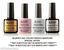 BLUESKY FRENCH MANICURE UV GEL NAIL FRENCH WHITE FRENCH PINK CREAM PUFF NEGLIGEE