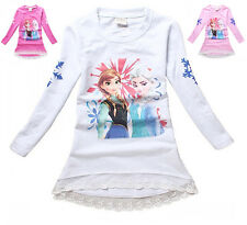 Frozen - T-Shirt lunga bambina - Long t-shirt Long Sleeves Anna e Elsa 000401-3