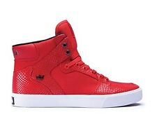 New Mens Snake Red White Bottom Supra Vaider High Top Shoe S28258