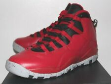 Air Jordan Retro 10 X Bulls Over Broadway Red Sneakers Boy's GS Size 3 4 7 New