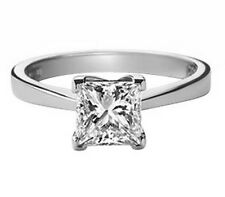 F/SI 0.40 Carat Princess Cut Solitaire Diamond Engagement Ring in White Gold