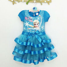 Vestito tutù Bambina  2 - 7 anni years - Girl dress Elsa Anna - Frozen - A00041