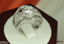 BRAND NEW NICKEL FREE SOLID STERLING SILVER 925 ENGAGEMENT WEDDING RING SET
