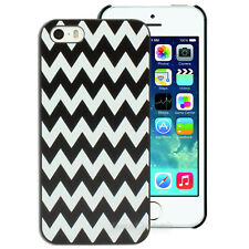 Black White Chevron Hard Case for Apple iPhone Cover 5 5S SE 6 6+ plus 4S 4
