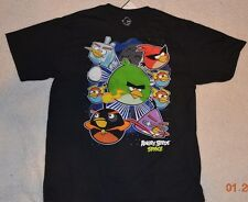 Angry Birds Space NWT Boys T-shirts clothing tops size Medium, XLarge Cotton