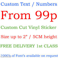 Custom personalized name letter text numbers vinyl cut sticker shop window car
