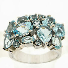 925 Silver 7.25 Ct Natural Topaz Ring