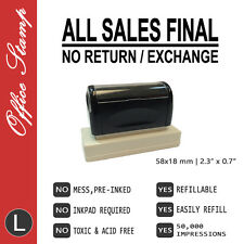ALL SALES FINAL, Style D, Size L, Pre-inked office rubber stamp (#760106-DL)