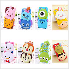 Cute 3D Hot Cartoon Animal Soft Silicone Rubber Case Cover Skin For Cell Phones