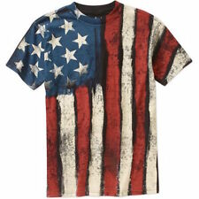 American Flag T-Shirt America USA Patriotic OLD GLORY BEACH WEEK 4th of July NEW