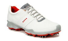 ECCO Mens Biom White Fire Yak Leather Golf Shoe with Spikes 131004/58247