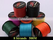 8 Strands 500M Braid Fishing Line 10LB-300LB PE Dyneema Spectra 547Y Mutilcolor
