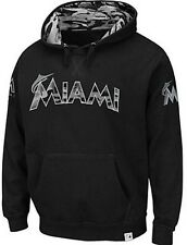 Miami Marlins Majestic Camouflage Mens Pullover Hoodie Black Big & Tall Sizes