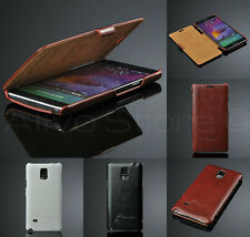 Samsung Galaxy Note 4 Ultra Slim Luxury Leather Wallet Book Flip Case Cover