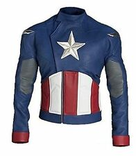 CAPTAIN AMERICA CHRIS EVANS STEVE ROGERS BIKER REAL/FAUX LEATHER JACKET ALL SIZE
