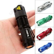 NEW Mini CREE Q5 LED Flashlight Torch 7w MAX 700LM Adjustable Focus Zoom Light