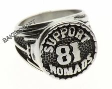 Support 81 Nomads Ring - Biker Ring - Stainless Steel
