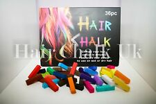 HAIR CHALK UK -36 Piece Sets of Hair Chalk, Hair Pastels, Hair Colour, Salon Kit